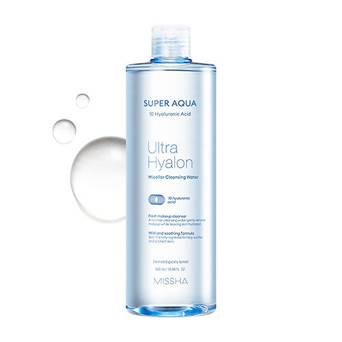 MISSHA Super Aqua Ultra Hyalron Mizellen Cleansing Water 500ml