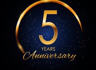 We've hit 5 years!!!