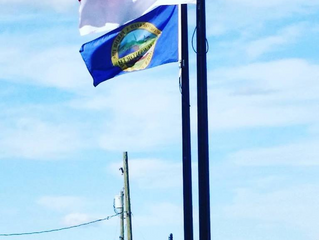 Indonesian Flag raised in front of Somersworth City Hall