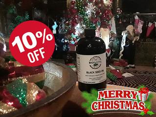 10% OFF for Christmas