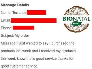 BioNatal customer service