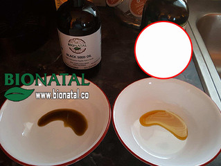 Black seed oil real color