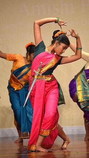 A girl dancing