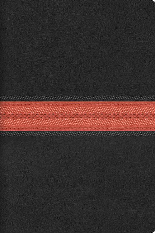 RVR 1960 Biblia Letra Súper Gigante, negro/rojo en piel fabricada