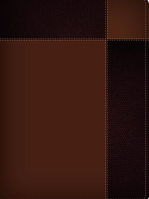 Biblia de estudio Ryrie ampliada: Duo-tono marrón