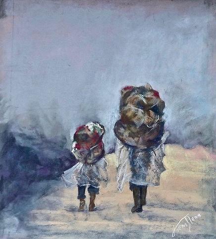 E.Trembleau - Les Marcheurs [40_40] 250€