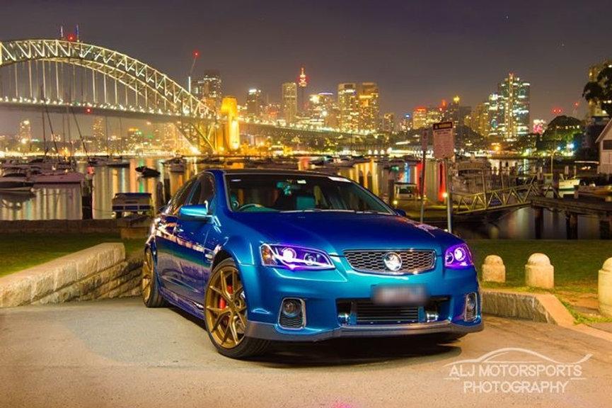 Holden VE Commodore DRL Style Headlights w/ RGB halo rings & RGBW demon  eyes | danscustomcarlights