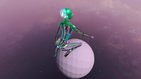 Serene Robot Planet
