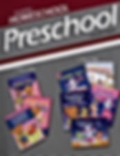 A colorful Abeka Homeschool Preschool Lesson Plans picture showing books available for age groups 2 and 3 year old preschoolers for Christian home schooling