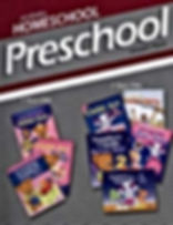 A colorful Abeka Homeschool Preschool Lesson Plans picture showing books available for age groups 2 and 3 year old preschoolers.