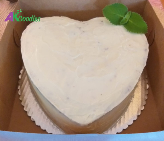 Heart Shaped Red Velvet Cake with Cream Cheese Frosting