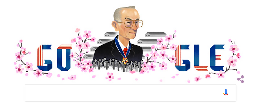 Today's Google Doodle honors Fred Korematsu's legacy.