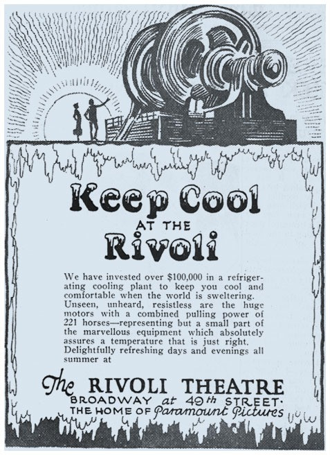 Keep Cool at the Rivoli Advertisement, c. 1920s