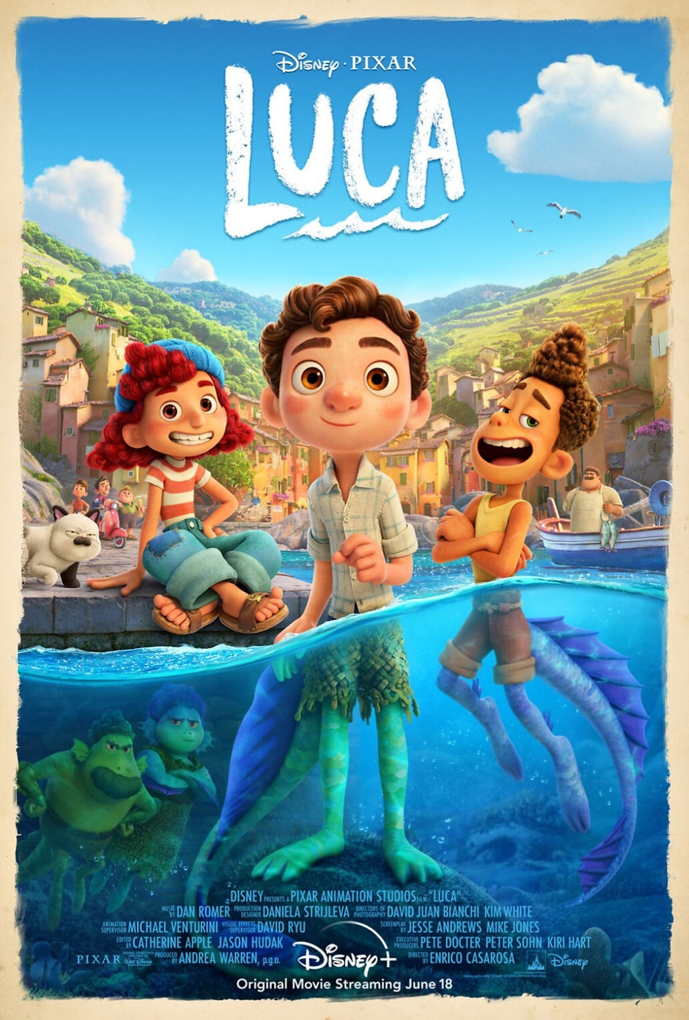 Theatrical poster for Pixar's Luca (2021).