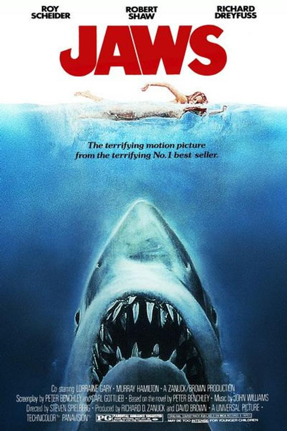 Jaws (1975) Theatrical Poster