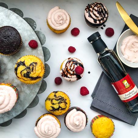 Raspberry Balsamic Cupcakes