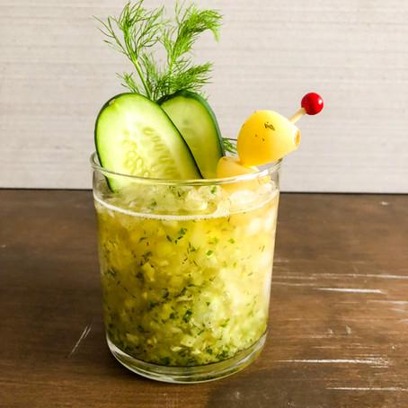Cucumber Garlic Dill Whiskey Shrub