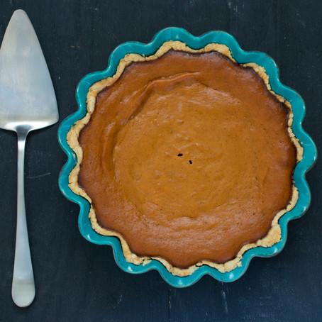 Pumpkin Pie with Olive Oil Crust