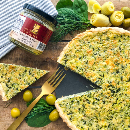Olive, Spinach and Artichoke Tart