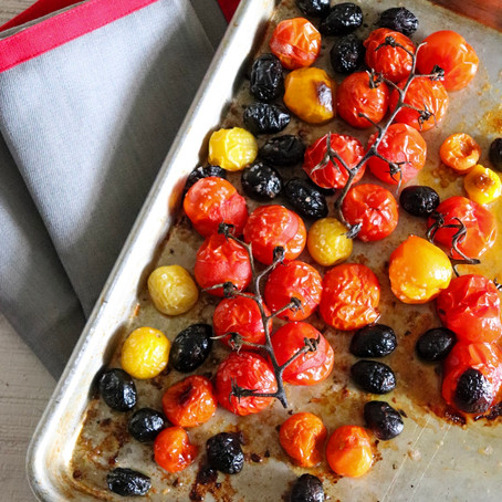 Roasted Tomatoes with Olives