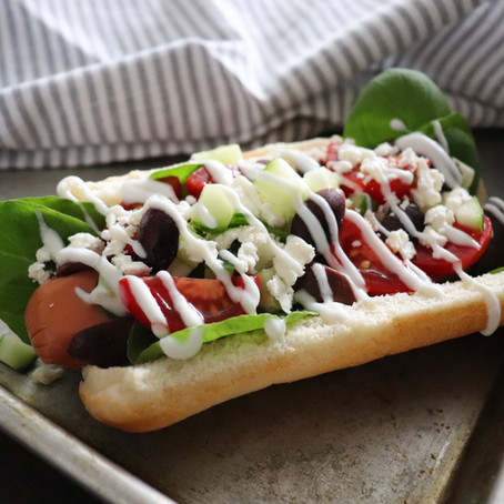 Greek Cobb Hot Dog