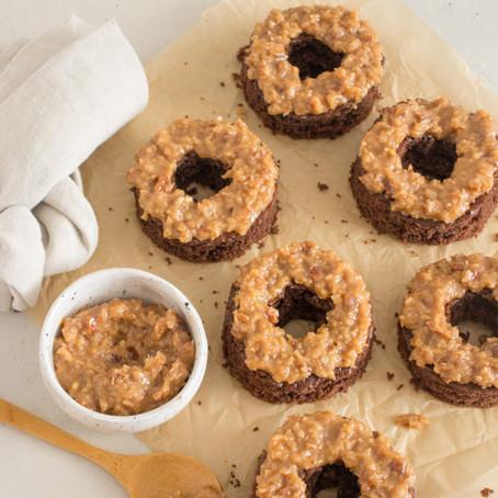 German Chocolate Cake Donuts