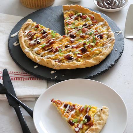 BBQ Breakfast Pizza