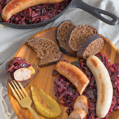 Balsamic Braised Cabbage & Sausages