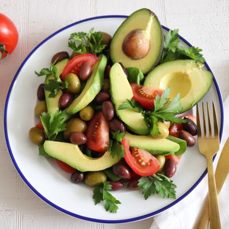 Tomato Olive and Avocado Salad