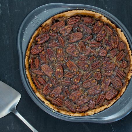 Balsamic Pecan Pie with Olive Oil Crust