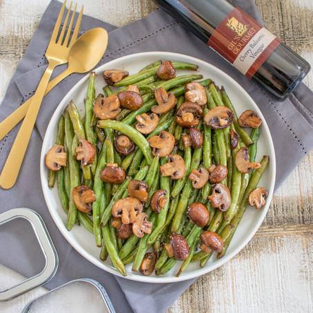 Roasted Balsamic Green Beans & Mushrooms