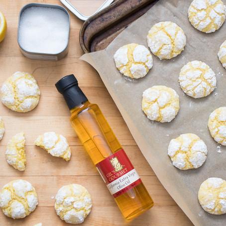 Lemon & Olive Oil Crinkle Cookies