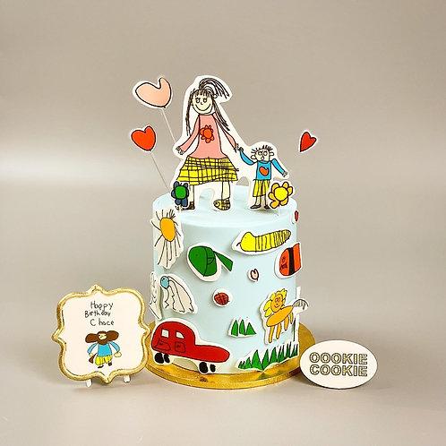 Fondant Cake - 318