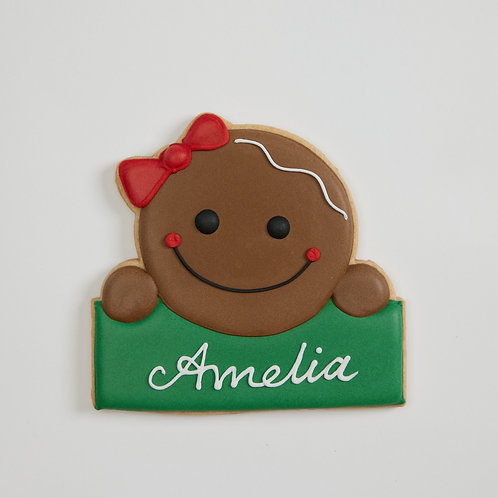 Personalized Cookie - C2 gingerbread girl