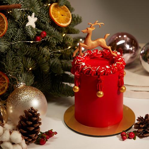 Buttercream Cake - F1 reindeer