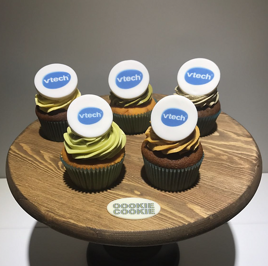 Cupcake with company logo