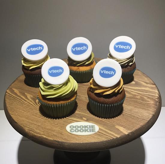 Cupcake with company logo