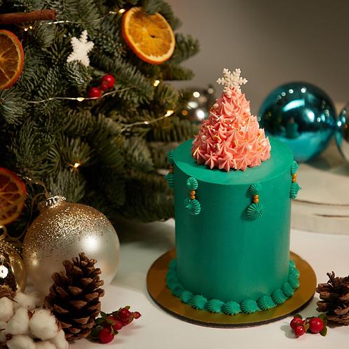 Buttercream Cake - F2 christmas tree