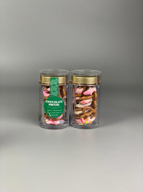 Chocolate Pretzels - 907 Pink Marble