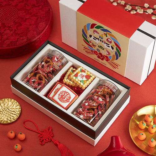 Box Set Cookies - B1 with Red Choco Pretzels