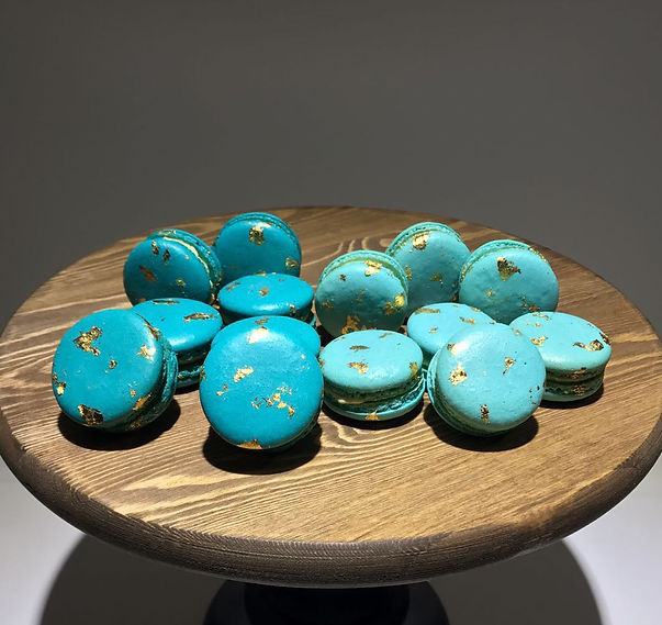 Macaron with Gold Leaf