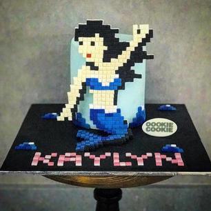 Space invader mermaid cake.jpg
