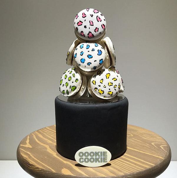 Leopard Macaron Tower Cake