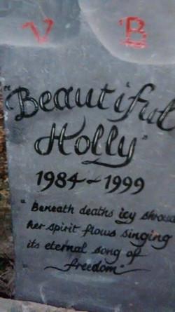 Holly's gravestone