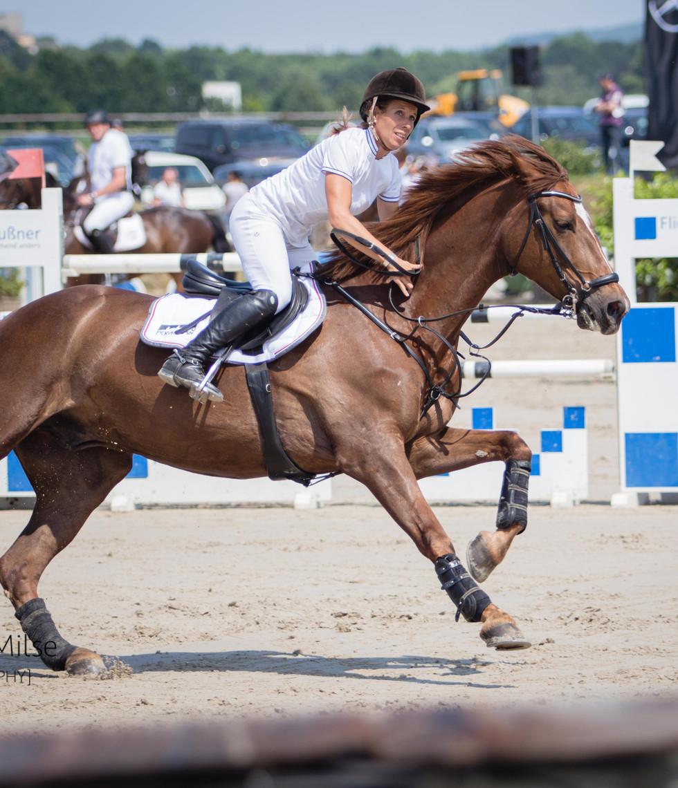 Lützower Pferdesporttage 2018 - auf der Zielgerade