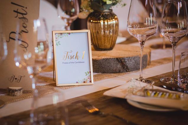 Hochzeitsfeier Tischdeko