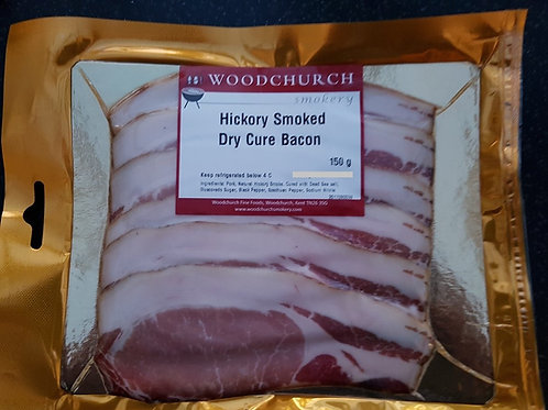Hickory Smoked Dry Cure Bacon (150 g)
