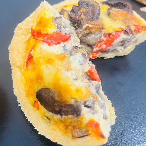 Mushroom and Bell Pepper Quiche