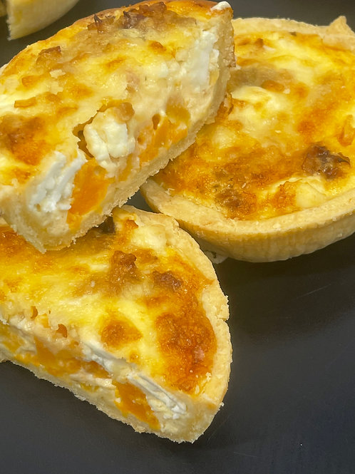 Butternut Squash, Feta and Caramelised Onion Quiche