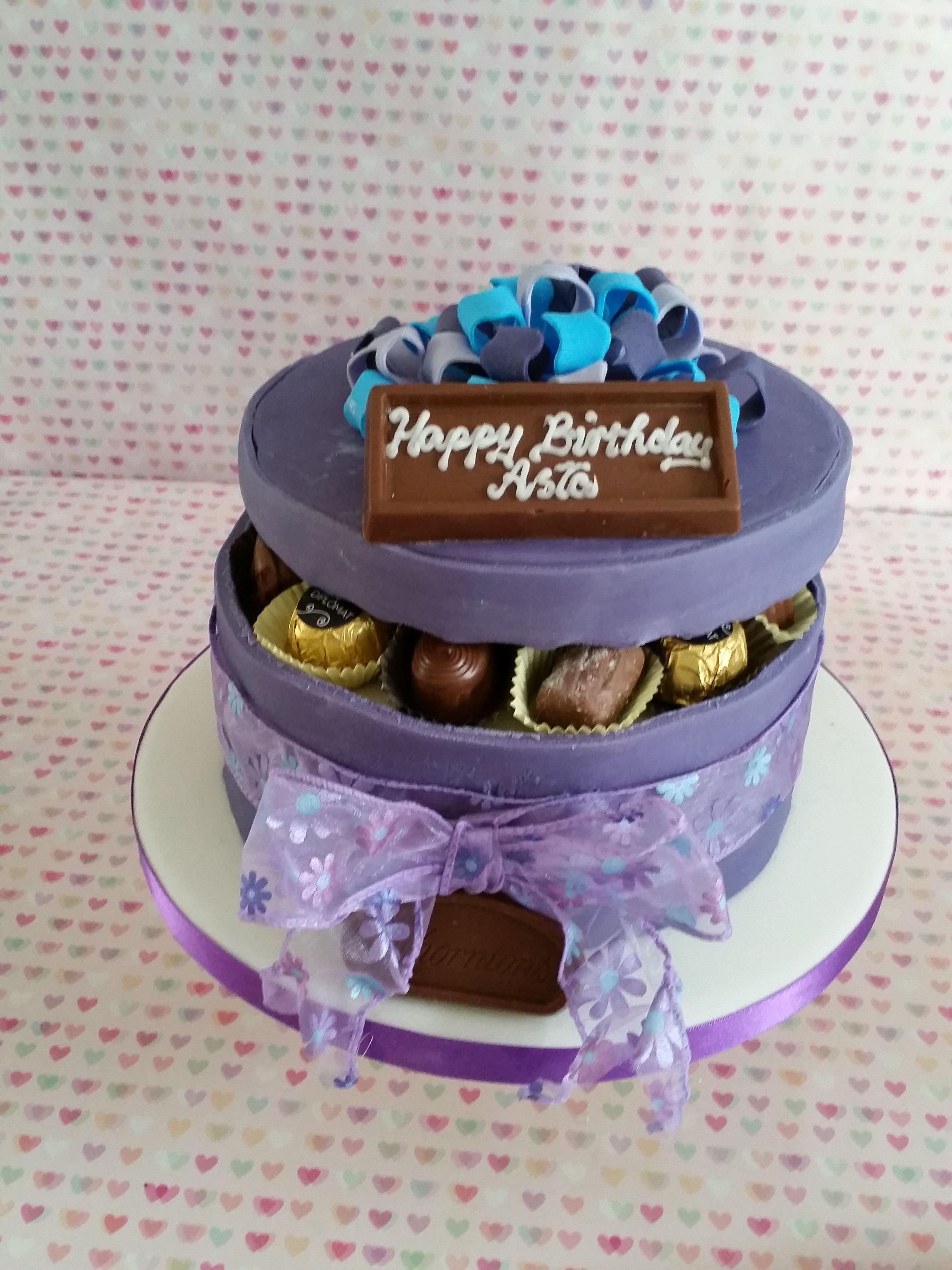 Chocolate cake box